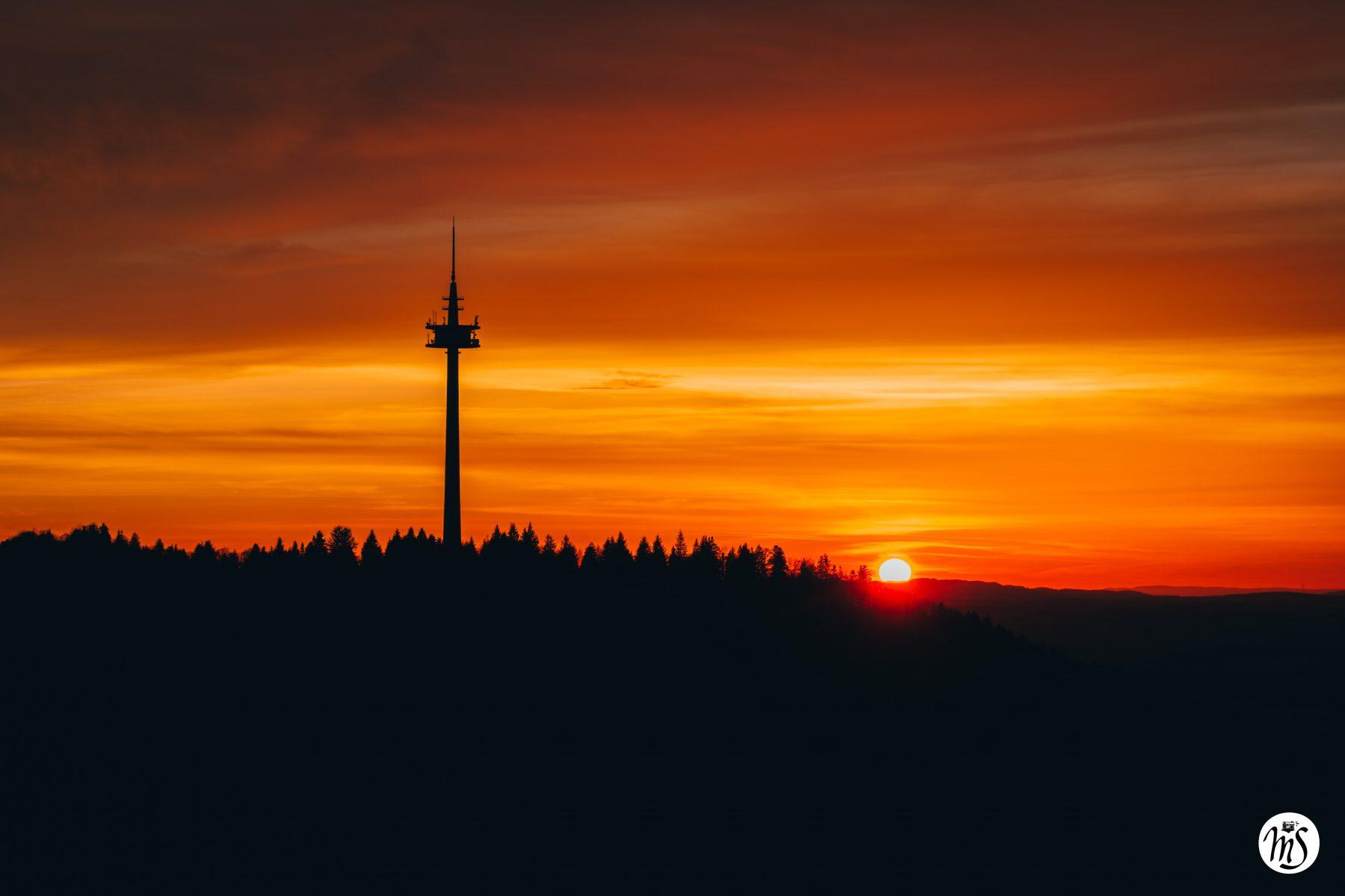 Sonnenuntergang Plettenberg